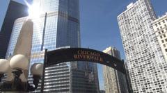 Chicago Riverwalk - stock footage