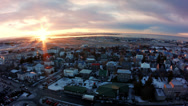 Stock Video Footage of Reykjavik Airport from Church Tower Wide