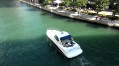 Stock Video Footage of boat on Chicago River