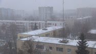 Stock Video Footage of Snowing in Town, City Snow Fall, Christmas Scene, Winter, Blizzard View District