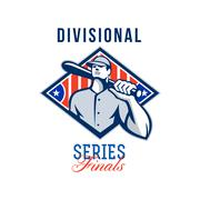 Baseball divisional series finals retro. Stock Illustration