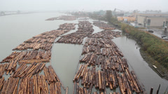 Stock Video Footage of Fraser River Lumber.