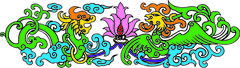 .chinese traditional auspicious designs - stock photo