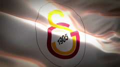 Galatasaray SK Flag Animation Stock Footage