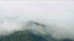Mountains covered in cloud Stock Footage