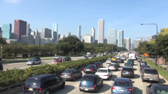 Chicago Traffic Rush Hour - stock footage