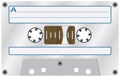 audio cassete. - stock illustration
