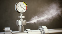 Pressure Gauge Stock Footage