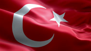 Stock Video Footage of Turkish National Flag