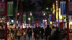 Ximen Night Market Stock Footage