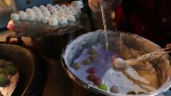 Making taiwan dessert Stock Footage