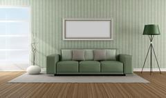 Elegant modern lounge Stock Illustration