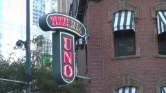 Famous Pizzeria UNO in Chicago - stock footage
