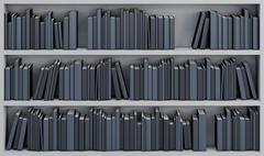 bookcase with the books - stock illustration