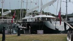 Antigua Island marina luxury sailboats yacht HD 1158 Stock Footage