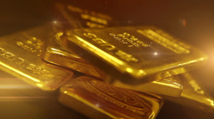 Gold bullion - stock footage