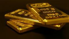 Gold bullion - stock footage