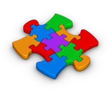 Colorful jigsaw piece Stock Illustration