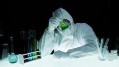 Chemist Science Research Liquid Lab Stirring Stock Footage