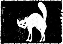 Very malicious cat. Stock Illustration