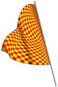 Yellow-red racing flag. Stock Illustration
