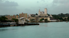 Guadeloupe Pointe-á-Pitre 072 last view on center of capital city Stock Footage