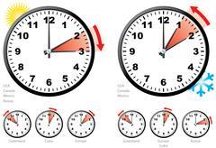 Daylight saving time. Stock Illustration