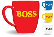 Stock Illustration of mug for big boss. fun.