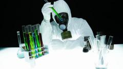 Hazardous Chemical Biohazard Chemist Research Stock Footage