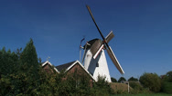 Stock Video Footage of Dutch Windmill Type Beltmolen turning counterclockwise - side view