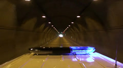 Emergency Ambulance in tunnel - stock footage