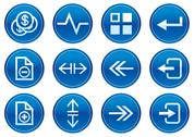 Stock Illustration of gadget icons set. white - dark blue palette.