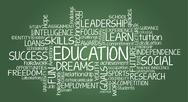 Stock Illustration of education related word cloud illustration