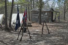 rebel camp - stock photo
