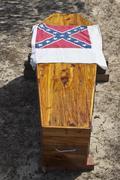 rebel coffin - stock photo