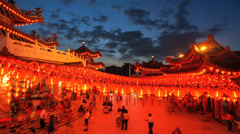 Thean Hou Temple Stock Footage