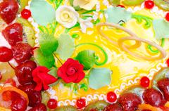 Wedding cake, closeup Stock Photos
