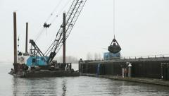 Harbor Dredging Steveston Stock Footage