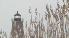 Lighthouse in snow Stock Footage