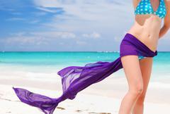 Woman with sarong Stock Photos