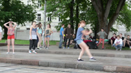 Stock Video Footage of young girl dance street