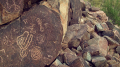 4K Native American Petroglyphs Stock Footage