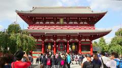 Senso-ji. Editorial. Stock Footage