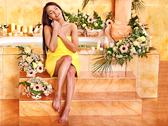 Stock Photo of woman at luxury spa.