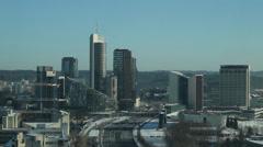 Vilnius city panorama Stock Footage