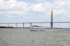 Charleston tour boat Stock Photos
