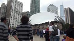 Cloud Gate Chicago Millennium Park - stock footage