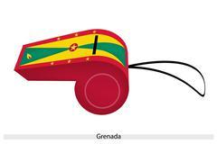 Punainen, keltainen ja vihreä pilli Grenadan Piirros