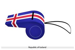 A whistle of the republic of iceland Stock Illustration