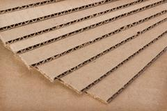 Stack of clean new blades of cardboard Stock Photos